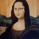 Вольная копия Джоконды, холст, акрил, 25×35, Анастасия Запалатская