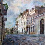 Воронцовский переулок, бумага, акварель, 40х40 - Мария Леоненко