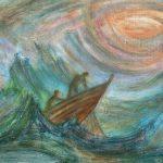 Грає синє море, полотно, олія, 56х75, Борис Гуко