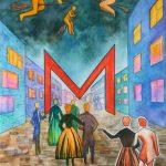 Мастер и Маргарита, акварель, линер. 42х30, 2019г.- Мария Леоненко