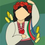 Портрет неизвестной украинки, CorelDRAW, 20x25, Елена Конякина