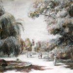 Прогулка, бумага, акварель, сангина, уголь, 40х60 - Мария Леоненко
