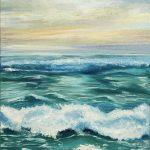 Рассвет на море, холст, масло, 40х60 - Елена Гасаненко