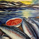 Рыбалка на севере.2005г., холст,масло, 40x60, Юлия Богомаз