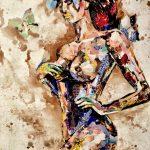 Флора, коллаж на холсте, 80х80, Юлия Николаенко