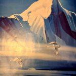 Чукотские гуси.2000г. бумага, акварель, 30x40, Юлия Богомаз