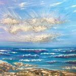 Эйфория, масло, текстурная паста, холст, 50х70 - Олисеенко Ирина