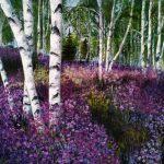 Багульник цветёт, холст, масло, 40×40- Валерия Штепа