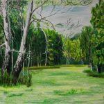 На узбіччі лісу, кольорові олівці, папір, 30х40, Сергій Ярошенко