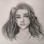 Автопортрет, ватман, карандаш, 29,7х42 - Алина Коваленко