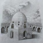 Мечеть,бумага,карандаш,29×20 - Таскаева Людмила