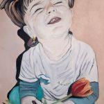 Портрет Полинки, холст, масло, 30×40-Оксана Михалевич