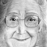 Портрет бабушки, бумага, карандаш, 30х21 -Щербинина Наталья
