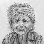 Портрет женщины, бумага, карандаш, 30х21 -Щербинина Наталья