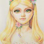Портрет куклы, пастель, бумага, палевый лен, 21х30, Анашкина Софья