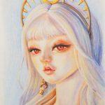 Портрет куклы 2 пастель, бумага палевый лен, 21х30, - Анашкина Софья