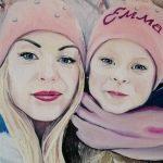 Портрет рідні, полотно, олія, 30×40-Михалевич Оксана