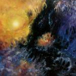 Далёкий Космос, холст, масло, 60х70, 2021 г, Олег М. Караваев.