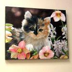 Цветочный котенок, холст, масло, 40х50, 2008г._Олег М. Караваев
